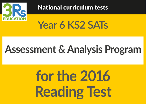 Y6 2016 SATS assessment & analysis program