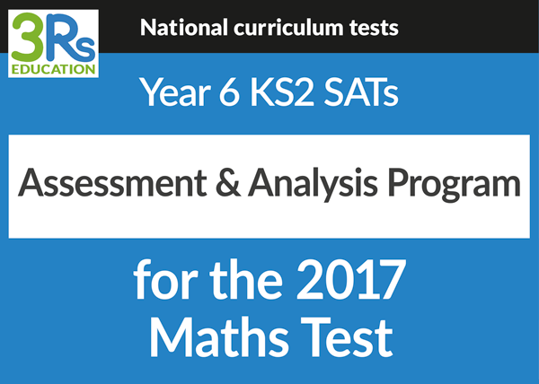 Y6 2017 SATS assessment & analysis program